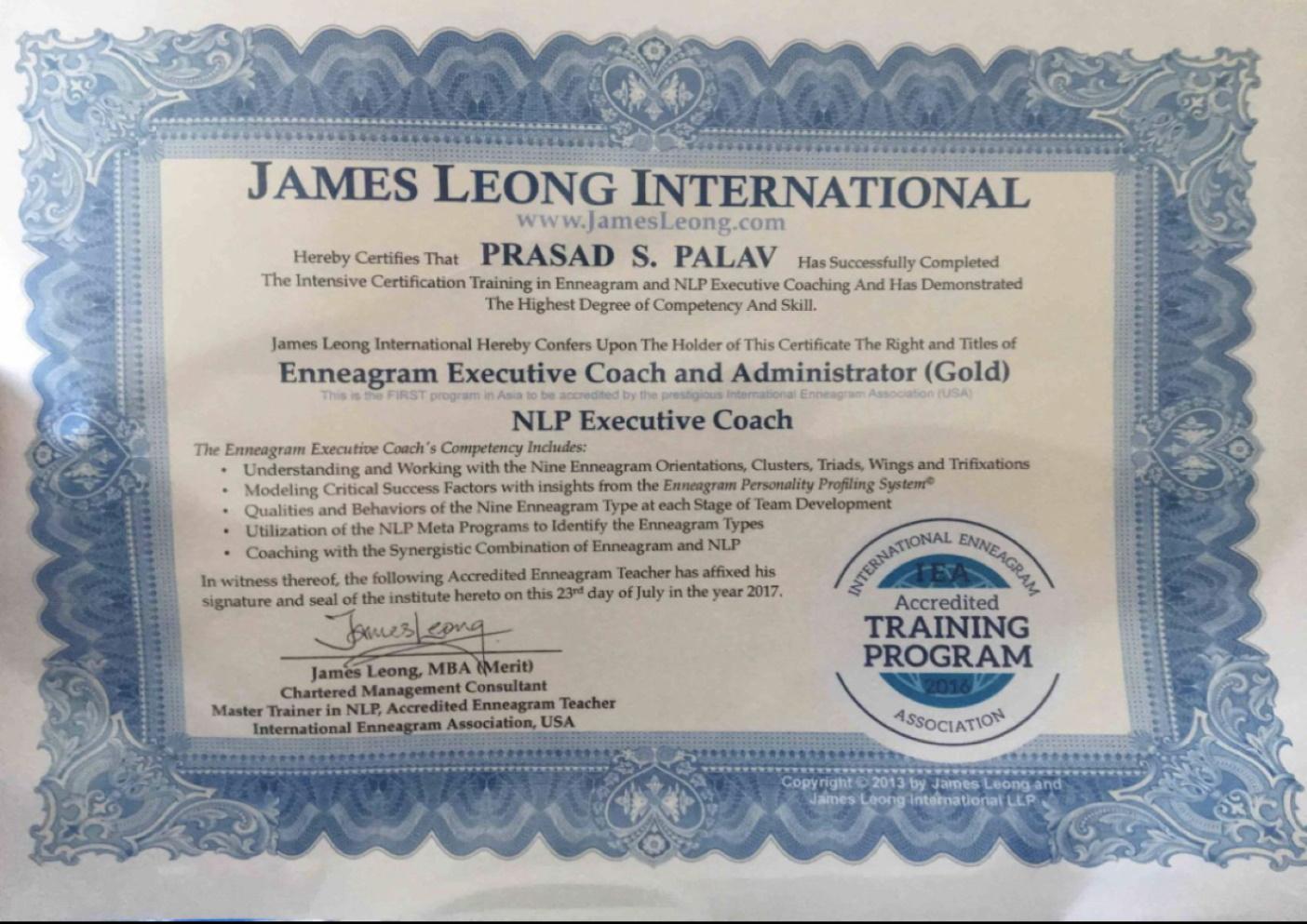 Enneagram Certificate