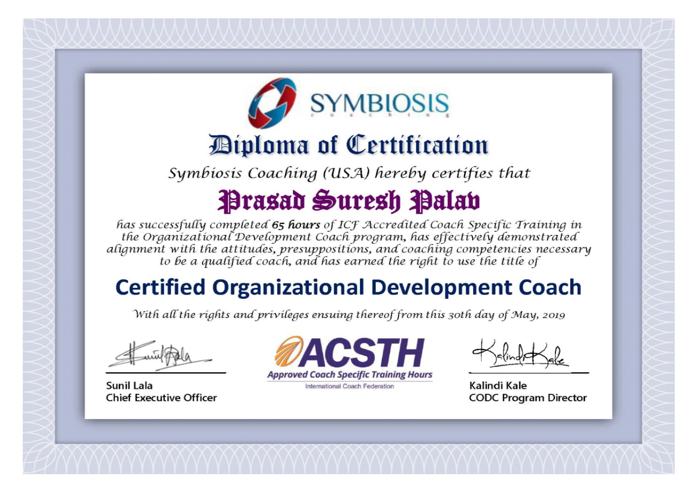Prasad Palav – CODC Certificate